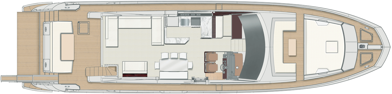 Azimut Flybridge 72 Main Deck