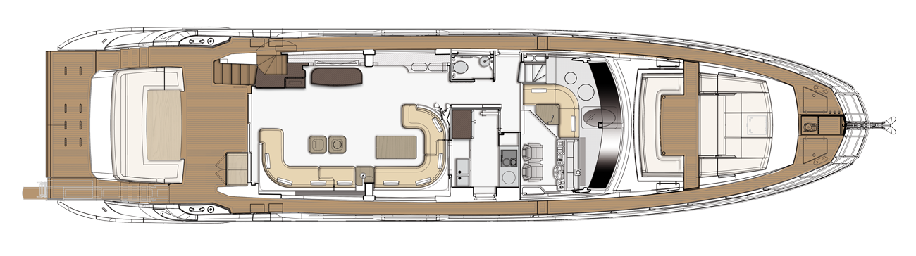 Azimut Grande 25 Main Deck Lounge