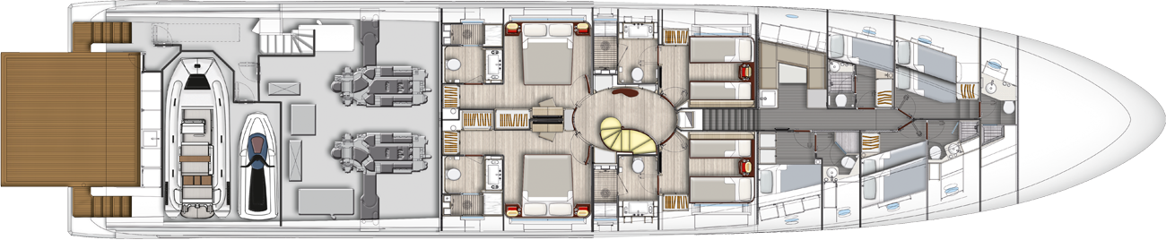 Azimut Grande 35 Lower Deck